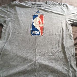Gray NBA Adidas Shirt